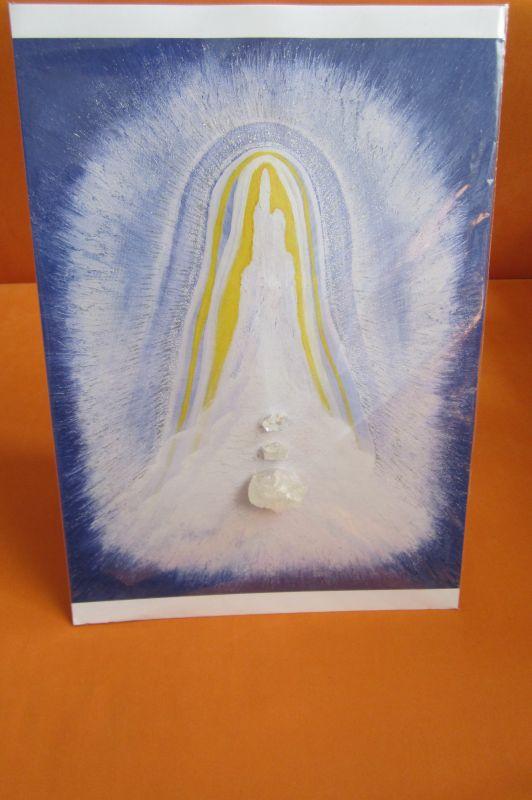 Meditační obraz s křišťálem