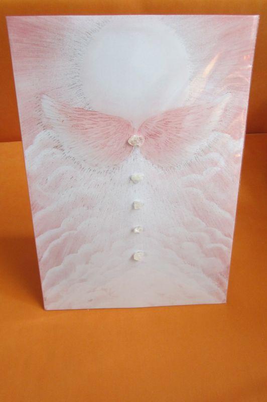 Andělský obraz s křišťálem
